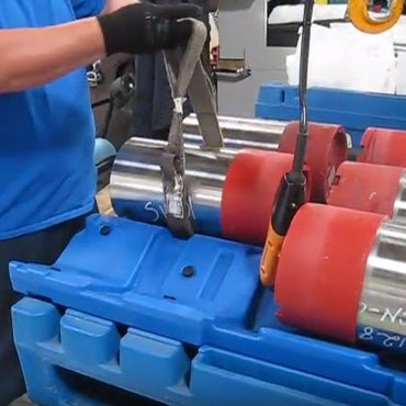 Oil Tool & Machine Shop Pallet Lifting Strap Method Featured