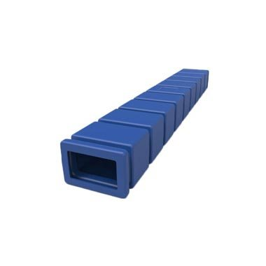 Designed to fit over forklift forks for safe handling of corrugated sheets