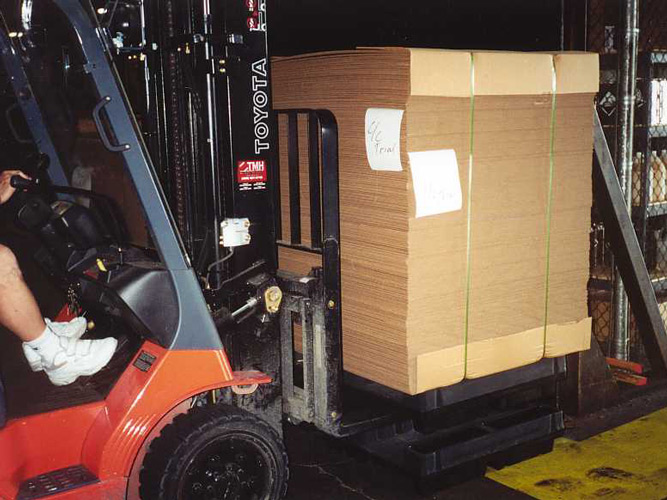 Shuttle Pallet With Bundle Removed