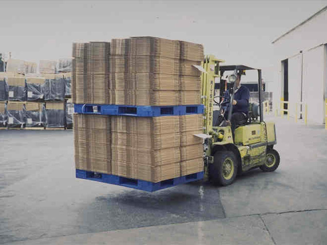 Corrugated Industry Pallets on Fork Lift